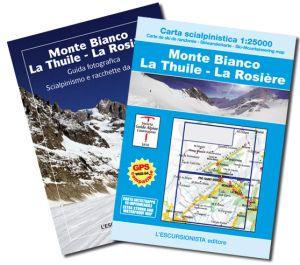 Monte Bianco, La Thuile, La Rosière scialpinistica 1:25.000