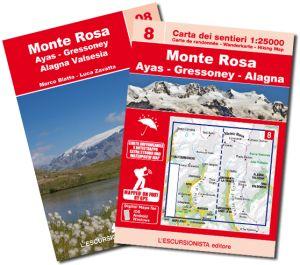 08 - Monte Rosa - Ayas - Gressoney - Alagna carta dei sentieri 1:25.000 ANTISTRAPPO 2020