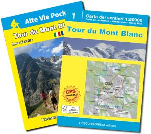 Tour du Mont Blanc guida + carta 1:50.000