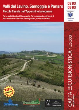 Valli del Lavino, Samoggia e Panaro 1:25.000 + guida