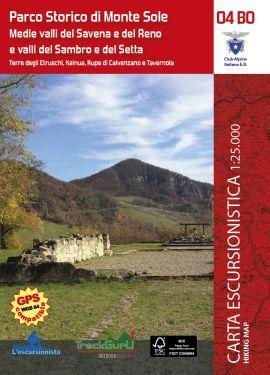 Parco Storico di Monte Sole - Medie valli del Savena e del Reno e valli del Sambro e del Setta 1:25.000 + guida