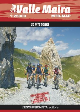 Valle Maira MTB MAP 1:25.000 IMPERMEABILE 2019