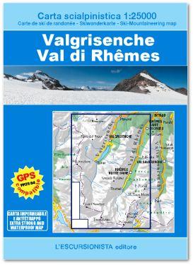 Valgrisenche, Val di Rhêmes carta scialpinistica 1:25.000