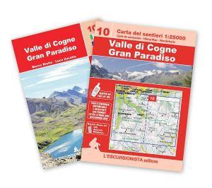 10 - Valle di Cogne, Gran Paradiso carta dei sentieri 1:25.000 ANTISTRAPPO 2021