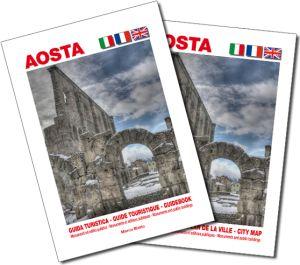 Aosta guida turistica + pianta della città 1:5.000